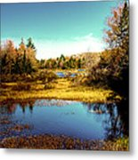 The Still Of Autumn In The Adirondacks Metal Print