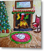 The Stockings Were Hung Metal Print