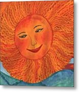 The Sun God Detail Of Red Sky At Night Metal Print