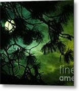 The Sun Through Clouds And Branches  Metal Print
