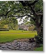 The Sundial Terrace, Glin Castle, Co Metal Print