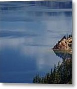 The Surface Of Crater Lake Metal Print