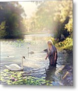 The Swan And The Fairy  Metal Print