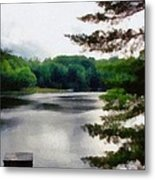 The Swimming Dock Metal Print by Michelle Calkins