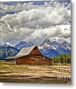 The T. A. Moulton Barn In Grand Teton National Park Metal Print