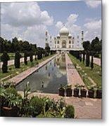The Taj Mahal In Agra, India Metal Print