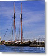 The Tall Ship Pacific Grace Based In Victoria Canada Metal Print by Louise Heusinkveld