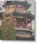 The Temple Metal Print