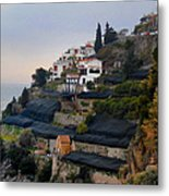 The Terraces Of Amalfi Metal Print