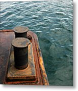 The Tether Strap On A Pontoon Boat Metal Print
