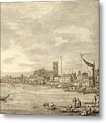 The Thames Looking Towards Westminster From Near York Water Gate  Metal Print