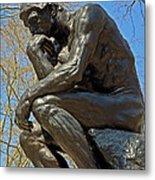 The Thinker By Rodin Metal Print
