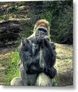 The Thinker Metal Print