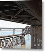 The Three Benicia-martinez Bridges In California - 5d18844 Metal Print