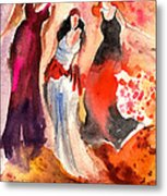 The Three Muses From Paphos Metal Print