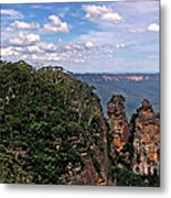 The Three Sisters - The Blue Mountains Metal Print