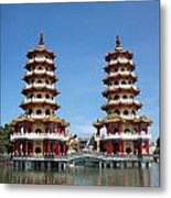 The Tiger And Dragon Pagodas Metal Print