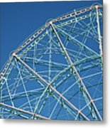 The Top Of A Ferris Wheel, Low Angle View Metal Print