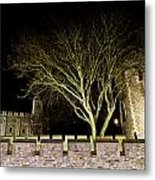 The Tower Of London At Night  Metal Print
