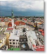 The Town And The Town Hall Metal Print by Maremagnum