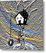 The Tree House Metal Print