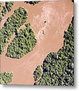 The Turbid Ituri River Channels Its Way Metal Print