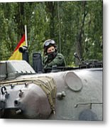 The Turret Of The Leopard 1a5 Mbt Metal Print by Luc De Jaeger