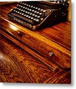 The Typewriter Metal Print by David Patterson