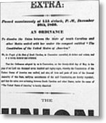 The Union Is Dissolved, 1860 Broadside Metal Print