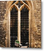 The Vaults Garden Cafe Bicycle In Oxford England Metal Print