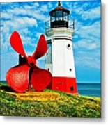 The Vermillion Light Metal Print