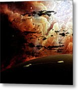The View From A Busy Planetary System Metal Print