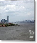 The View From The Statue Of Liberty Metal Print