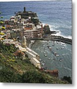 The Village Of Vernazaa On Italys Metal Print