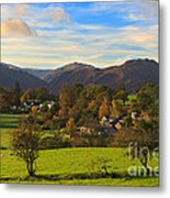 The Village Of Watermillock In Cumbria Uk Metal Print
