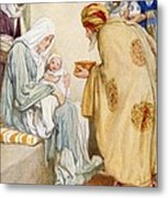 The Visit Of The Wise Men Metal Print