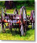 The Wagon At El Prado Metal Print