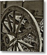 The Wagon Wheel Metal Print