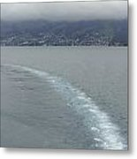 The Wake Of A Cruise Ship In Lake Lucerne Metal Print