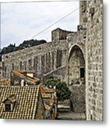 The Wall In Dubrovnik Metal Print