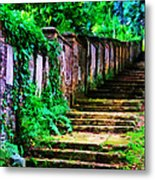 The Wall Of Gravestones Metal Print