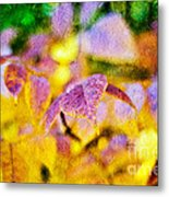 The Warmth Of Autumn Glow Abstract Metal Print