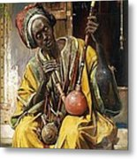 The Water - Pipe Smoker Metal Print by Pg Reproductions