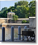 The Waterworks Wheelbarrow - Philadelphia Metal Print