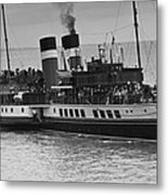 The Waverley Paddle Steamer Mono Metal Print