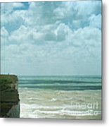 The Waves Bellow Us Metal Print by Paul Grand