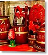 the Wedding Gifts Shop at the Qibao Ancient Town Metal Print