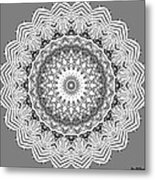 The White Mandala No. 2 Metal Print