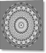 The White Mandala No. 5 Metal Print