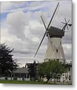 The White Windmill Metal Print